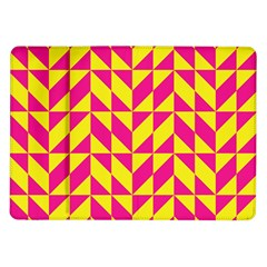 Pink and yellow shapes pattern Samsung Galaxy Tab 10.1  P7500 Flip Case