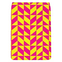 Pink and yellow shapes pattern Removable Flap Cover (S)