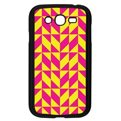 Pink and yellow shapes pattern Samsung Galaxy Grand DUOS I9082 Case (Black)
