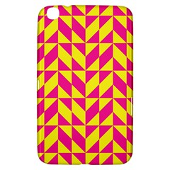 Pink and yellow shapes pattern Samsung Galaxy Tab 3 (8 ) T3100 Hardshell Case