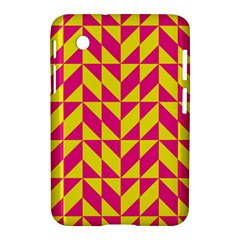 Pink and yellow shapes pattern Samsung Galaxy Tab 2 (7 ) P3100 Hardshell Case