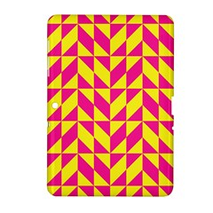 Pink and yellow shapes pattern Samsung Galaxy Tab 2 (10.1 ) P5100 Hardshell Case