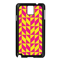 Pink and yellow shapes pattern Samsung Galaxy Note 3 N9005 Case (Black)
