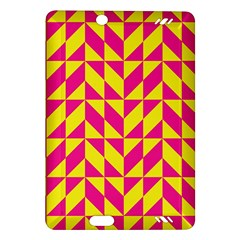 Pink and yellow shapes pattern Kindle Fire HD (2013) Hardshell Case