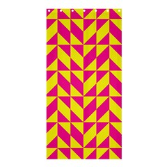 Pink and yellow shapes pattern	Shower Curtain 36  x 72