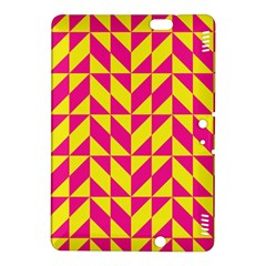Pink and yellow shapes pattern	Kindle Fire HDX 8.9  Hardshell Case