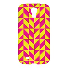 Pink and yellow shapes patternSamsung Galaxy S4 I9500/I9505 Hardshell Case $10