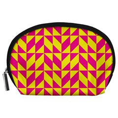 Pink and yellow shapes pattern Accessory Pouch