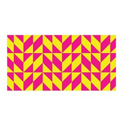 Pink and yellow shapes pattern Satin Wrap
