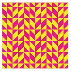 Pink and yellow shapes pattern Satin Scarf