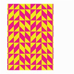 Pink and yellow shapes pattern Small Garden Flag