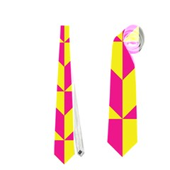 Pink and yellow shapes pattern Necktie