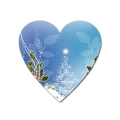 Christmas Tree Heart Magnet