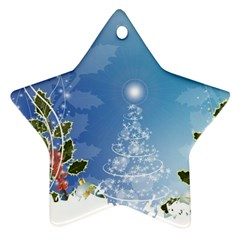 Christmas Tree Star Ornament (Two Sides)