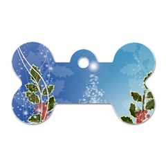 Christmas Tree Dog Tag Bone (One Side)