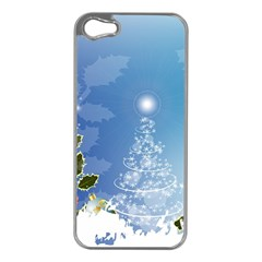 Christmas Tree Apple iPhone 5 Case (Silver)