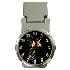 Beautiful Bird In Gold And Black Money Clip Watches