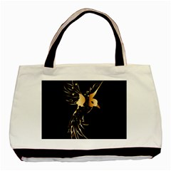 Beautiful Bird In Gold And Black Basic Tote Bag