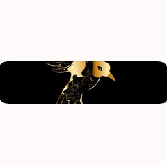 Beautiful Bird In Gold And Black Large Bar Mats