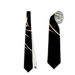 Beautiful Bird In Gold And Black Neckties (one Side)