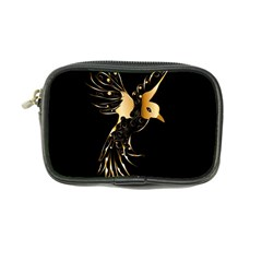 Beautiful Bird In Gold And Black Coin Purse