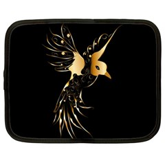 Beautiful Bird In Gold And Black Netbook Case (xl)