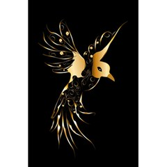 Beautiful Bird In Gold And Black 5.5  x 8.5  Notebooks