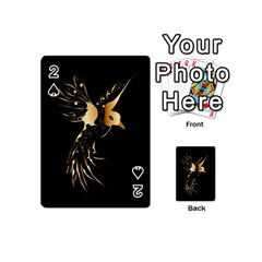 Beautiful Bird In Gold And Black Playing Cards 54 (Mini)