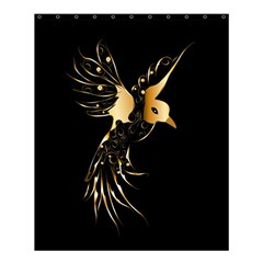 Beautiful Bird In Gold And Black Shower Curtain 60  x 72  (Medium)
