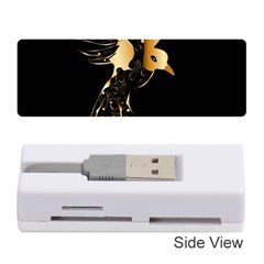 Beautiful Bird In Gold And Black Memory Card Reader (stick)