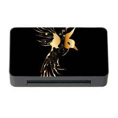 Beautiful Bird In Gold And Black Memory Card Reader with CF