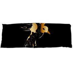 Beautiful Bird In Gold And Black Body Pillow Cases (dakimakura)