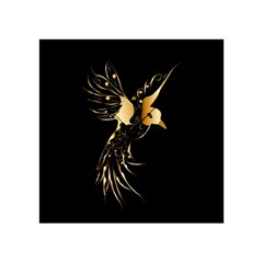 Beautiful Bird In Gold And Black Acrylic Tangram Puzzle (4  x 4 )