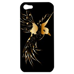 Beautiful Bird In Gold And Black Apple Iphone 5 Hardshell Case
