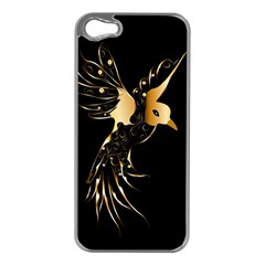 Beautiful Bird In Gold And Black Apple Iphone 5 Case (silver)