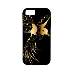 Beautiful Bird In Gold And Black Apple iPhone 5 Classic Hardshell Case (PC+Silicone)