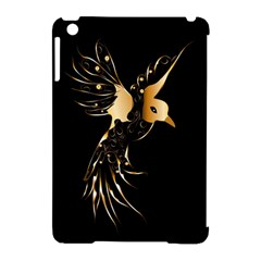 Beautiful Bird In Gold And Black Apple iPad Mini Hardshell Case (Compatible with Smart Cover)