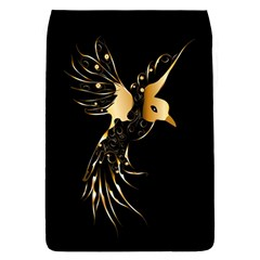 Beautiful Bird In Gold And Black Flap Covers (l)