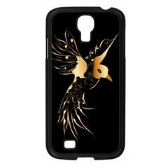 Beautiful Bird In Gold And Black Samsung Galaxy S4 I9500/ I9505 Case (black)