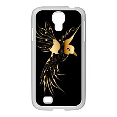 Beautiful Bird In Gold And Black Samsung GALAXY S4 I9500/ I9505 Case (White)