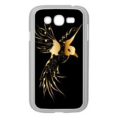 Beautiful Bird In Gold And Black Samsung Galaxy Grand DUOS I9082 Case (White)