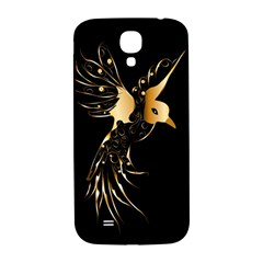Beautiful Bird In Gold And Black Samsung Galaxy S4 I9500/i9505  Hardshell Back Case