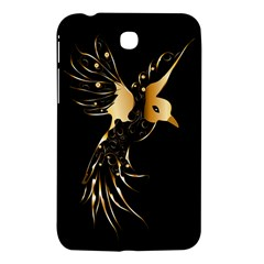Beautiful Bird In Gold And Black Samsung Galaxy Tab 3 (7 ) P3200 Hardshell Case