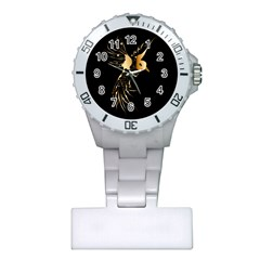 Beautiful Bird In Gold And Black Nurses Watches