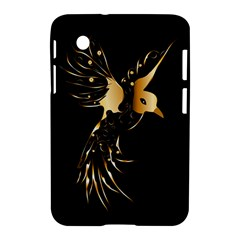 Beautiful Bird In Gold And Black Samsung Galaxy Tab 2 (7 ) P3100 Hardshell Case