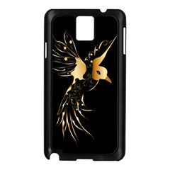 Beautiful Bird In Gold And Black Samsung Galaxy Note 3 N9005 Case (black)