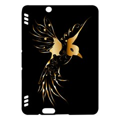 Beautiful Bird In Gold And Black Kindle Fire HDX Hardshell Case