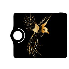 Beautiful Bird In Gold And Black Kindle Fire Hdx 8 9  Flip 360 Case