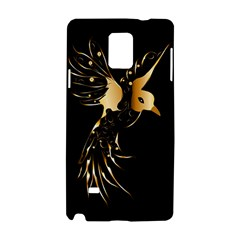 Beautiful Bird In Gold And Black Samsung Galaxy Note 4 Hardshell Case