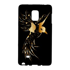 Beautiful Bird In Gold And Black Galaxy Note Edge